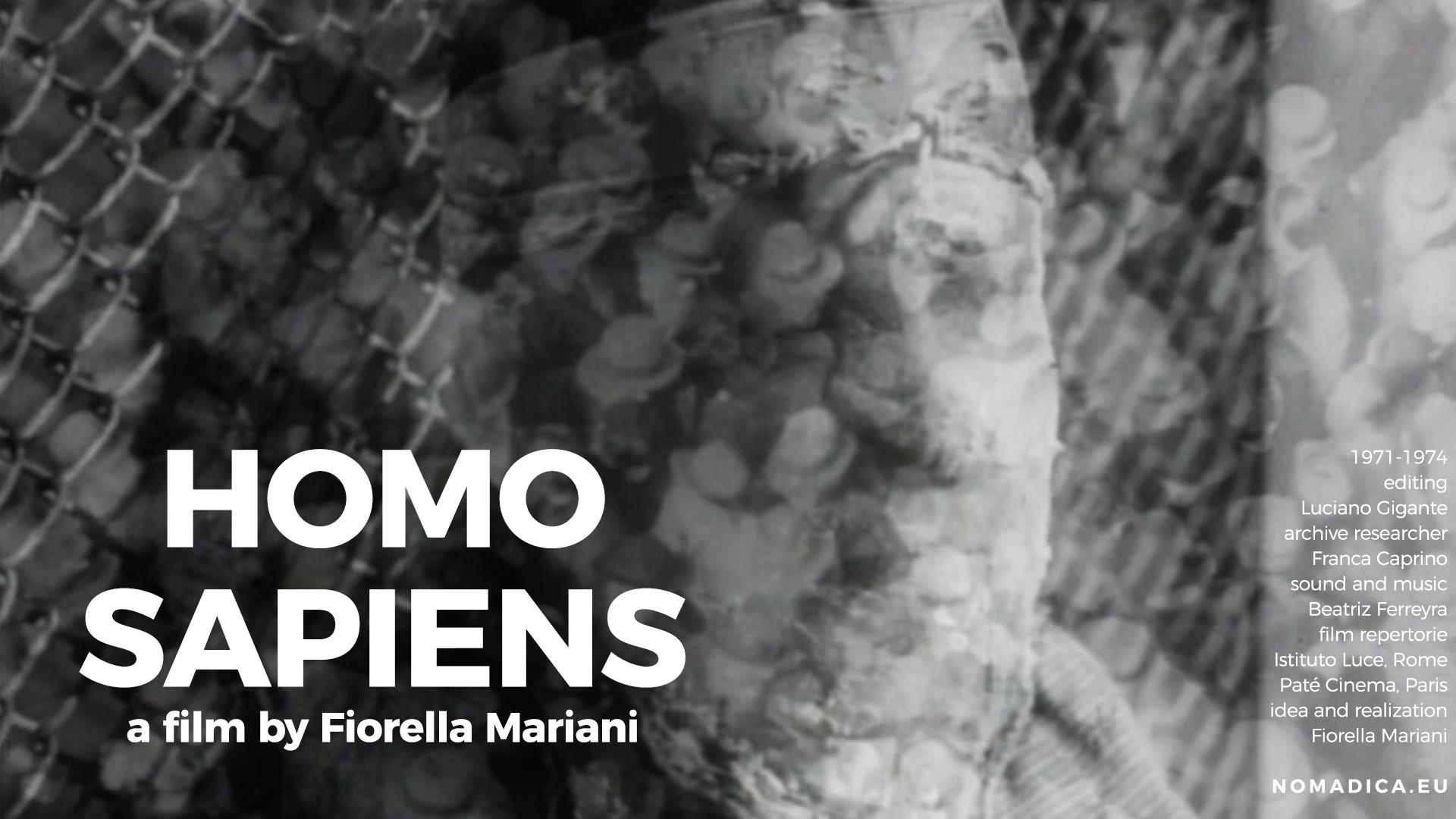 Homo sapiens, a film by Fiorella Mariani (open distribution)